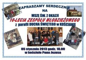 10 lat zespołu z Parafii Świętego Ducha w Kościanie